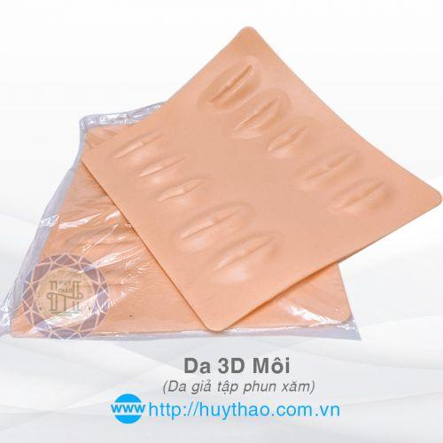 Da Giả 3D Môi Tập Phun Xăm